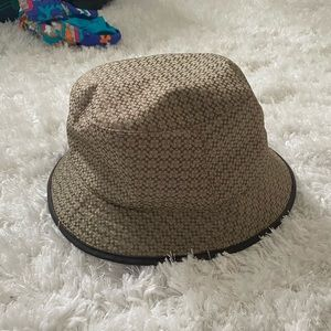 Vintage Coach all over print bucket hat